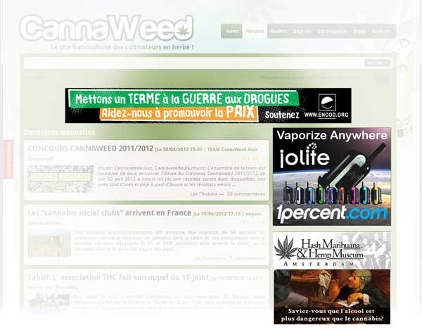cannaweed.com banner positions